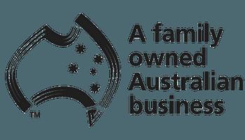 a Family owned Australian Business black logo